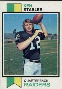 Ken Stabler rookie card 1973 Topps