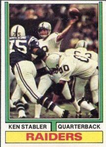 Ken Stabler 1974 Topps