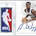 2014-15 National Treasures Basketball Andrew Wiggins auto relic