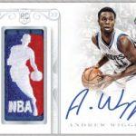 2014-15 National Treasures Basketball Andrew Wiggins auto relic