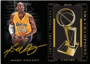 Kobe Bryant Champion Signatures National Treasures