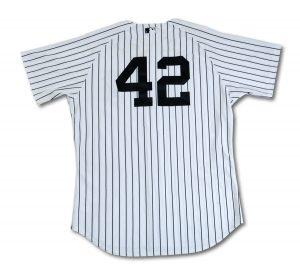 Derek Jeter 2011 Jackie Robinson Day jersey