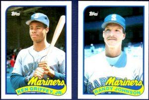 1989 Topps Update Griffey-Johnson