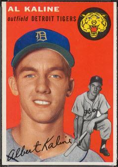 Al Kaline rookie card 1954
