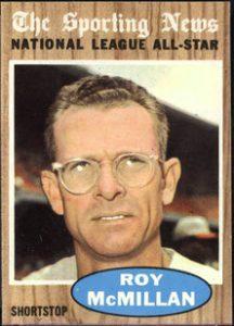 Roy McMillan 1962 Topps All Star