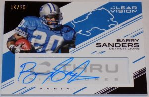 Barry Sanders 2015 Panini Clear Vision  auto