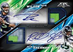 2015 Topps Fire Football Russell Wilson Richard Sherman dual auto