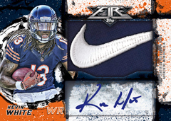 2015 Topps Fire Football Kevin White auto relic