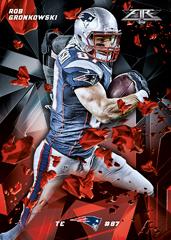 2015 Topps Fire Football Rob Gronkowski base card
