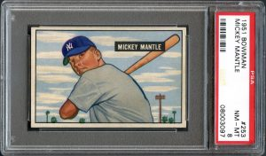 Mickey Mantle 1951 Bowman Baseball Rookie Card