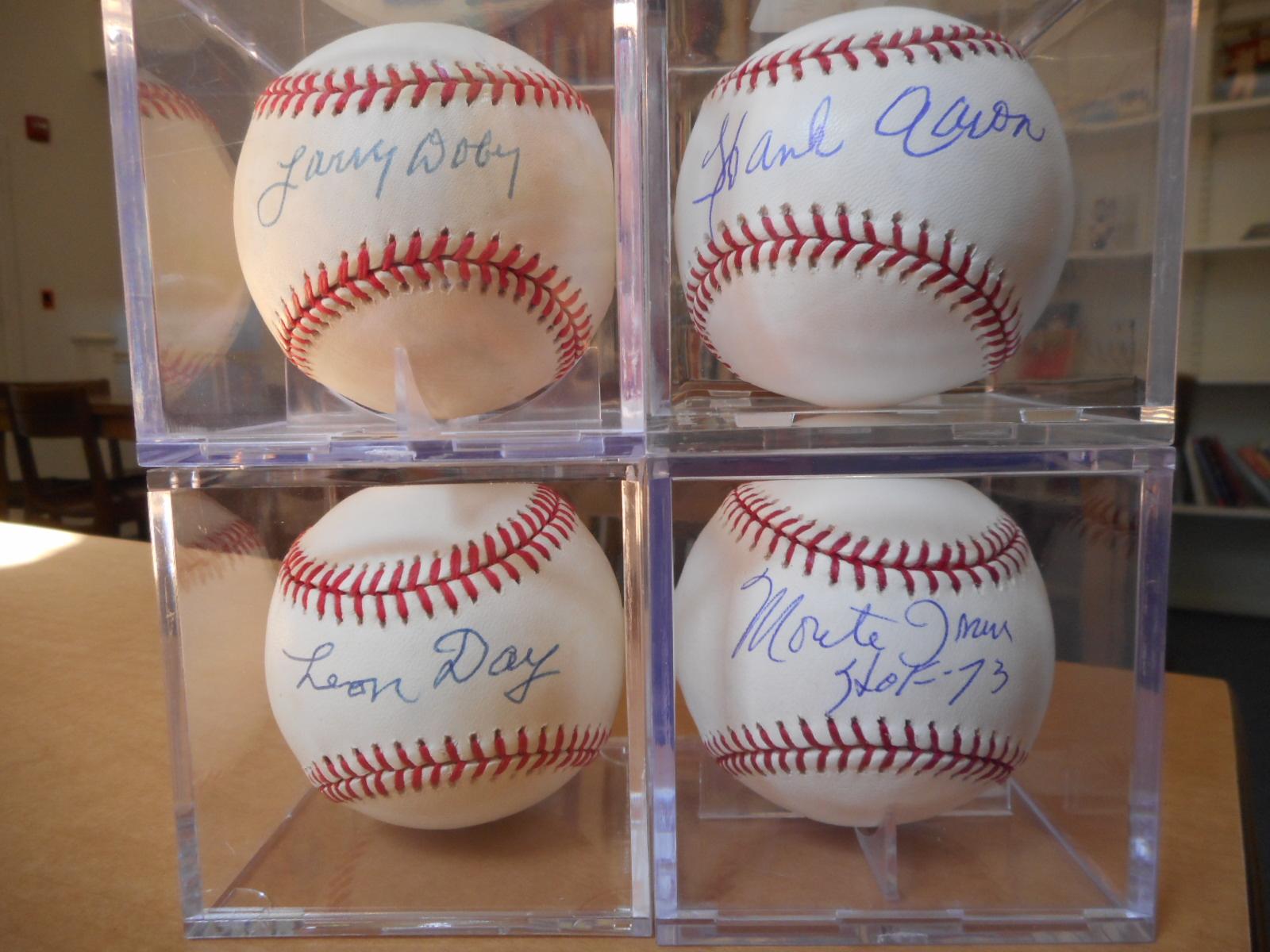 Negro League single signed baseballs