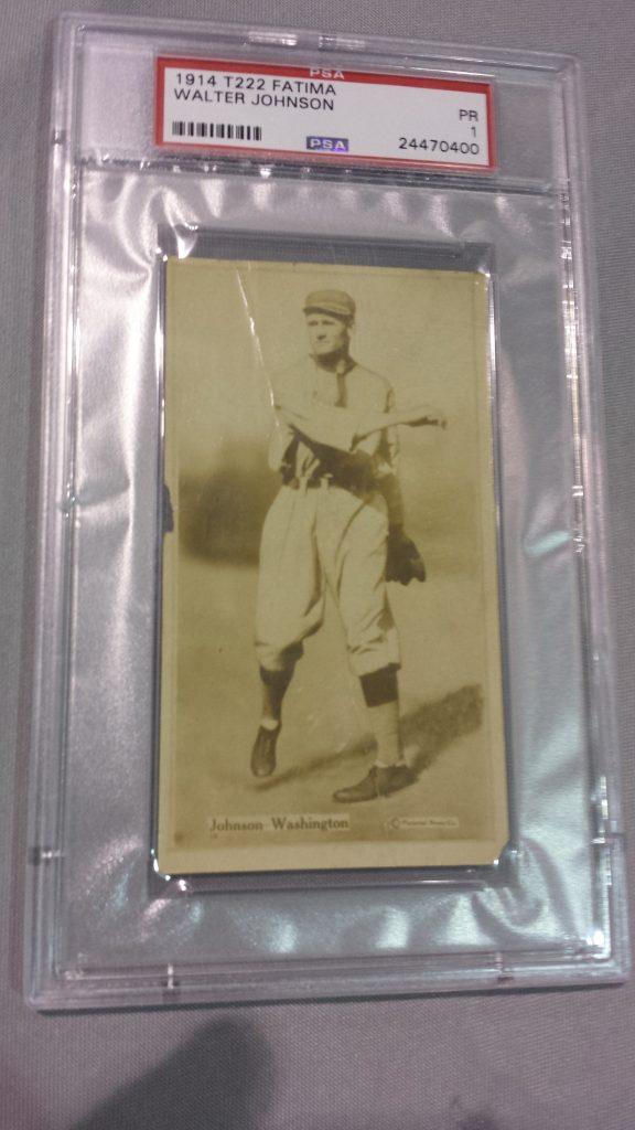 Walter Johnson T222 Fatima 1914