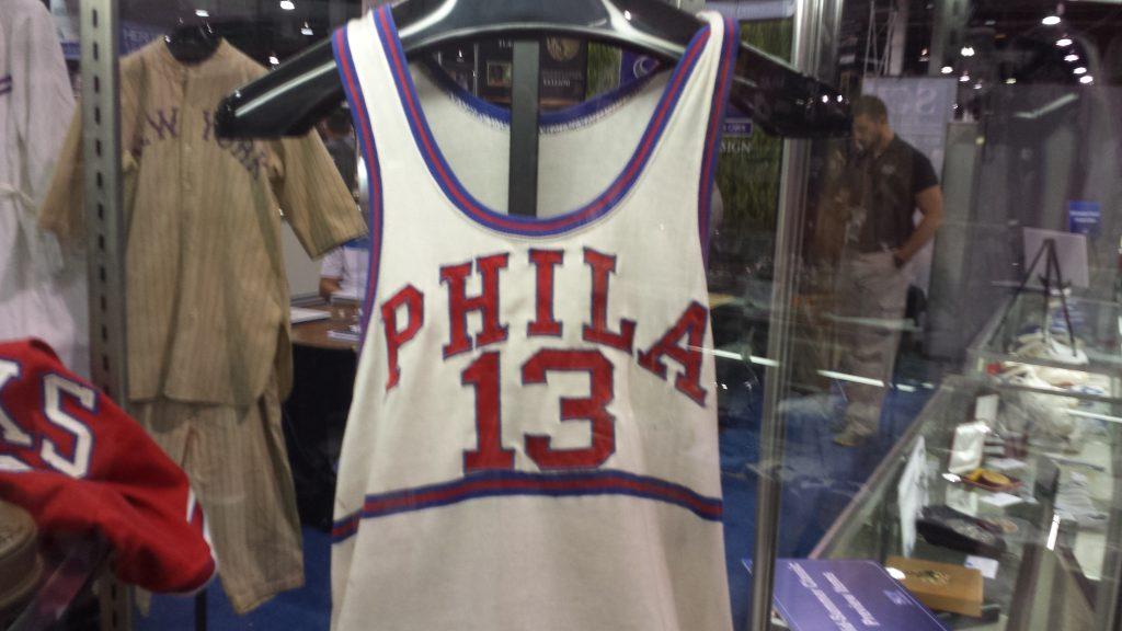 Philadelphia Warriors Wilt Chamberlain game jersey 1959
