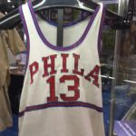 Philadelphia Warriors Wilt Chamberlain game jersey 1959