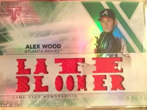 Alex Wood 2015 Topps Triple Threads Relic