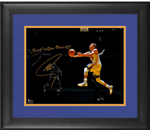 Stephen-Curry-NBA-champs-signed-photo
