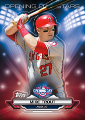 Mike Trout Opening Day Stars Topps 2016