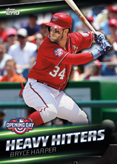 2016 Topps Opening Day Bryce Harper Heavy Hitters