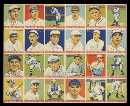 World Wide Gum uncut sheet 1933