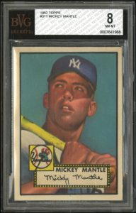 Mickey Mantle 1952 Topps BVG 8