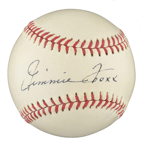 Autographed Jimmie Foxx ball
