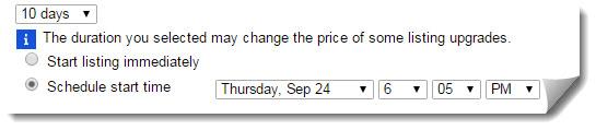 auction duration