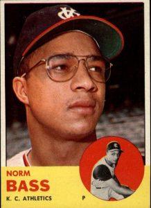 1963 Topps Norm Bass
