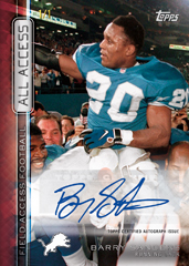 Barry Sanders autograph 2015 Topps Field Access