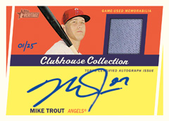 2016 Topps Heritage Clubhouse Mike Trout auto