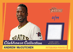 Andrew McCutchen 2016 Heritage Baseball Clubhouse Collection relic