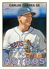 2016 Topps Heritage Baseball Carlos Correa autograph Real One