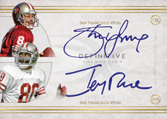 2015 Topps Definitive Steve Young Jerry Rice