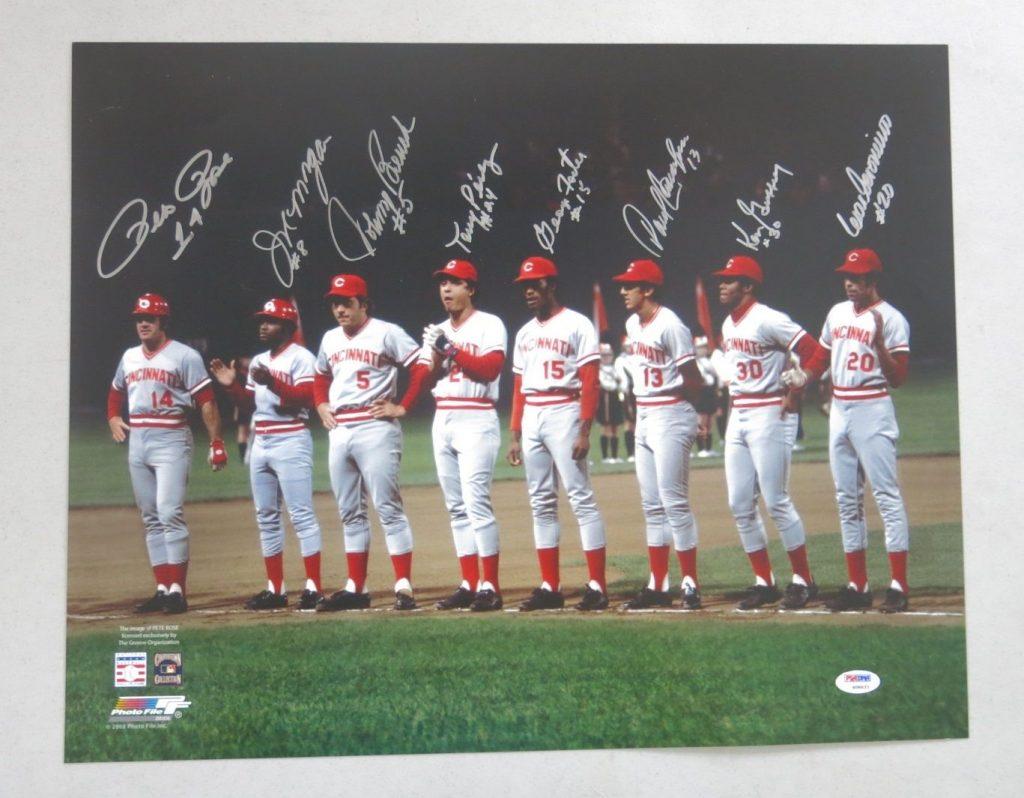 1970s Cincinnati Reds signed photo