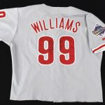 1993 World Series Game 6 Mitch Williams jersey