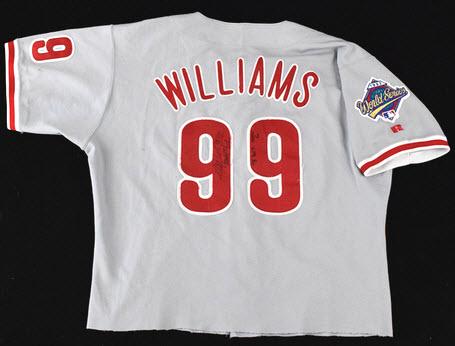 1993 World Series Game 6 Mitch Williams jersey