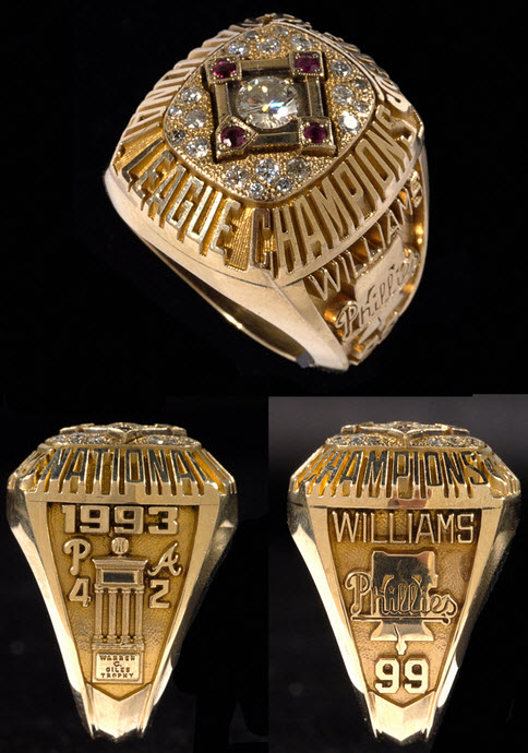1993 NLCS ring Mitch Williams