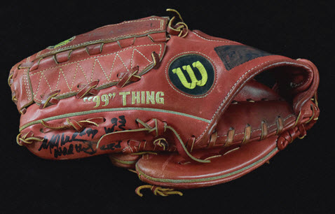 Game-used Mitch Williams glove