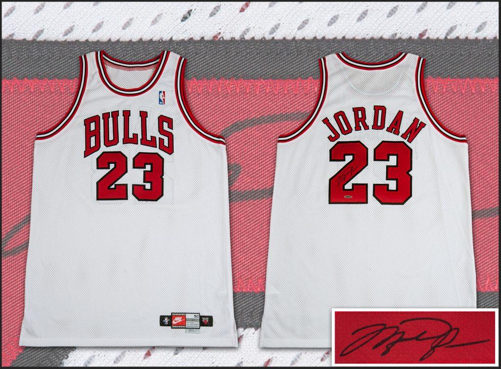 Michael Jordan 1998 game worn jersey