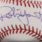 Autographed Robin Yount baseball