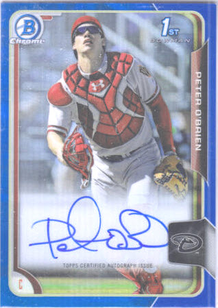 Bowman Chrome autograph Peter O'Brien