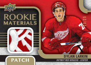 2015-16 Upper Deck Series 2 Rookie Materials Dylan Larkin