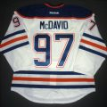 Game worn Connor McDavid first game jersey