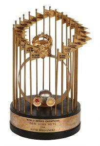 1986 Mets World Series trophy Keith Hernandez
