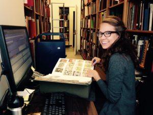 Erin cataloguing