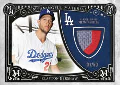 2016 Topps Museum Meaningful Materials Clayton Kershaw