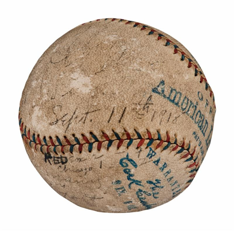 World Series 1918 game-used baseball