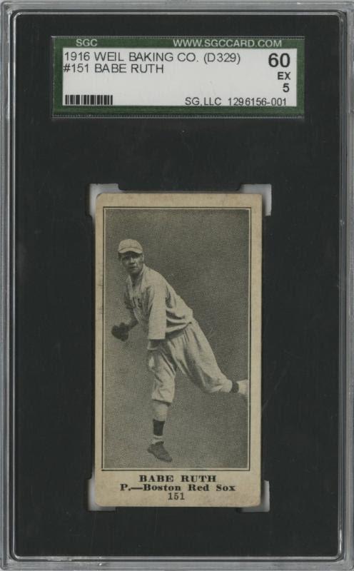 Babe Ruth 1916 Weil Baking