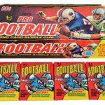 Topps Football 1975 wax box