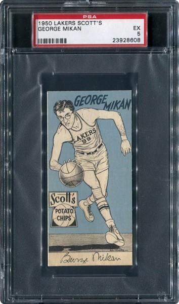 1950 Scotts Lakers George Mikan PSA 5