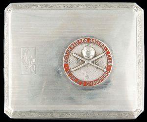 1912 Boston Red Sox silver cigarette box